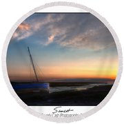 Sunset Down The River Round Beach Towel
