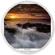 Sunset Tides Round Beach Towel