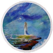Sweet Little Wishes Round Beach Towel