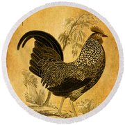 Thanksgiving Rooster Round Beach Towel