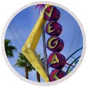 Vegas Sign Round Beach Towel