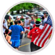 0001 Buffalo Marathon Series 2012  Round Beach Towel