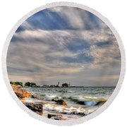 001 In Harmony With Nature Series Round Beach Towel