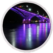 001 Peace Bridge Honoring Breast Cancer 2012 Series Round Beach Towel