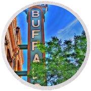 001 Sheas Buffalo Round Beach Towel