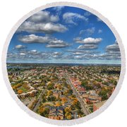 0010  Autumn Days Of Buffalo Ny Birds Eye Round Beach Towel