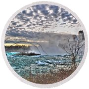 0018 View Of Horseshoe Falls From Terrapin Point Series Round Beach Towel