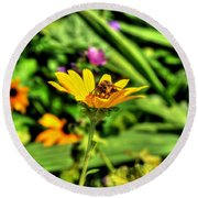 002 Busy Bee Series Round Beach Towel