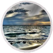 002 In Harmony With Nature Series Round Beach Towel