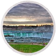 002 View Of Horseshoe Falls From Terrapin Point Series Round Beach Towel