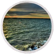 003 In Harmony With Nature Series Round Beach Towel