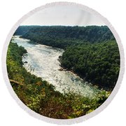 003 Niagara Gorge Trail Series  Round Beach Towel