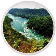 004 Niagara Gorge Trail Series  Round Beach Towel