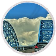 005 Grand Island Bridge Series  Round Beach Towel