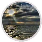 005 In Harmony With Nature Series Round Beach Towel