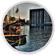 006 Uss Niagara 1813 Series Round Beach Towel