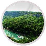 007 Niagara Gorge Trail Series  Round Beach Towel