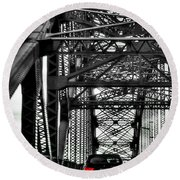 008 Grand Island Bridge Series Round Beach Towel