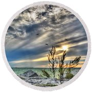 008 In Harmony With Nature Series Round Beach Towel