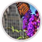 008 Making Things New Via The Butterfly Series Round Beach Towel