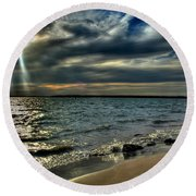 009 In Harmony With Nature Series Round Beach Towel