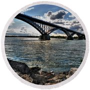 009  Peace Bridge Series II Beautiful Skies Round Beach Towel