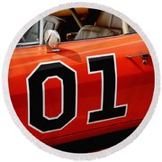 01 - The General Lee 1969 Dodge Charger Round Beach Towel by Gordon Dean II