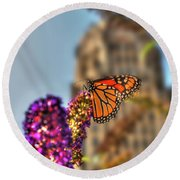 010 Making Things New Via The Butterfly Series Round Beach Towel