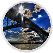 010  Peace Bridge Series II Beautiful Skies Round Beach Towel