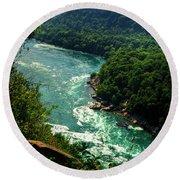 011 Niagara Gorge Trail Series  Round Beach Towel