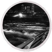 012 Niagara Falls Usa Rapids Series Round Beach Towel