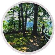 012a Niagara Gorge Trail Series  Round Beach Towel
