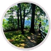 012b Niagara Gorge Trail Series  Round Beach Towel