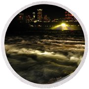 013 Niagara Falls Usa Rapids Series Round Beach Towel
