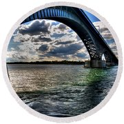013 Peace Bridge Series II Beautiful Skies Round Beach Towel