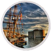 013 Uss Niagara 1813 Series Round Beach Towel