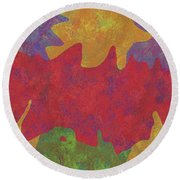 0146 Abstract Thought Round Beach Towel
