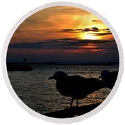 015 Sunset Series Round Beach Towel