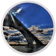016 Peace Bridge Series II Beautiful Skies Round Beach Towel