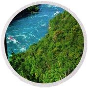 017 Niagara Gorge Trail Series  Round Beach Towel