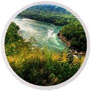 019 Niagara Gorge Trail Series  Round Beach Towel