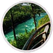 020 Niagara Gorge Trail Series  Round Beach Towel