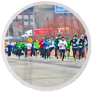 020 Shamrock Run Series Round Beach Towel