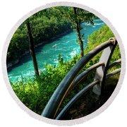 021 Niagara Gorge Trail Series  Round Beach Towel