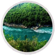 022 Niagara Gorge Trail Series  Round Beach Towel