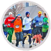 022 Shamrock Run Series Round Beach Towel