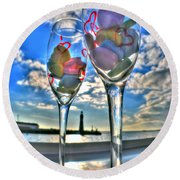 03 Love Is In The Air Round Beach Towel