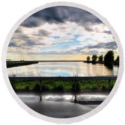 03 Reflecting Round Beach Towel