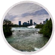 03 Three Sisters Island Round Beach Towel