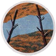 0361 Abstract Landscape Round Beach Towel